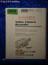 Sony Bedienungsanleitung CCD TR515E /TR713E /TR415E /TR425E Video (#2438)