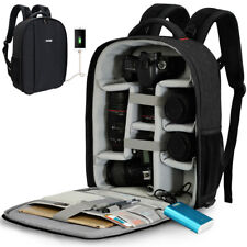 CADeN Camera Backpack Professional DSLR Bag with USB Charging Port Rain Cover