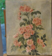 Stary obraz olejny / old oil painting wild roses