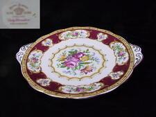 Royal Albert LADY HAMILTON Tab Handled Cake Plate EC England 1st c1940's