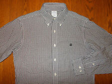 BROOKS BROTHERS SLIM FIT LONG SLEEVE BLACK CHECKED BUTTON SHIRT MENS SMALL