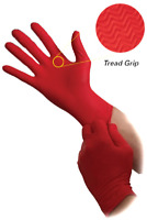 Red Lightning X-Large Fully Textured Powder Free Nitrile Gloves (Box of 100)