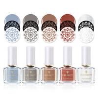 7colors/set BORN PRETTY Nail Stamping Polish Brown Gray Nail Art Varnish 6ML