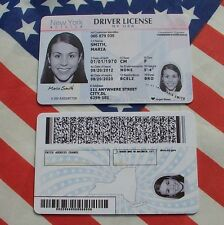 Custom American USA NY Driver's License ID Card Entertainment Props Driving Gift