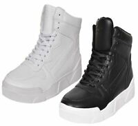 Mens Crosshatch Arialva Trainers Lace up Hi Tops Ankle Boots Padded Shoes