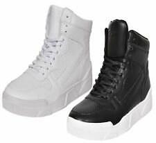 Crosshatch Mens Trainers Arialva Lace up Hi Tops Ankle Boots Padded Shoes