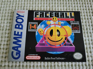 Faceball 2000 - Authentic - Nintendo Game Boy - Manual Only!