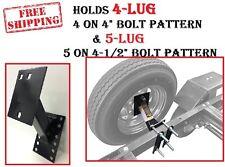 Universal RV Travel Trailer Tire Carrier Bumper Mount Camper Spare Wheel Holder