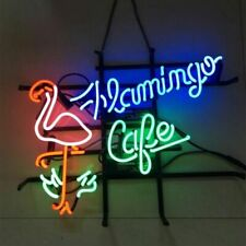 "New Flamingo Cafe Bar Cub Party Decor Light Lamp Decor Neon Sign 17""x14"""