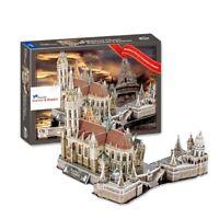Hungary Matthias Church Fisherman's Bastion 3D Puzzle (176 Pieces)