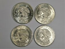 Four Mexico 25 Peso 1968 Olympic Silver Commemorative Coins, Uncirculated