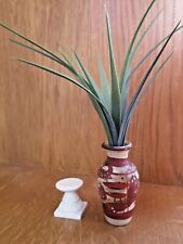 Dolls House / Miniature / Home Decor Detailed Plant Vase With Plant WIth Stand