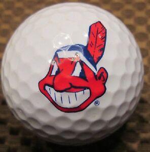 1 Dozen (Cleveland Indians MLB LOGO) Nike Assorted Mint Golf Balls