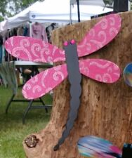 dragonfly wall decor handmade indoor or outdoor metal designer fabric/paper