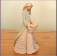 MOM WITH DAUGHTER FIGURINE BY FOUNDATIONS KAREN HAHN FREE U.S. SHIPPING