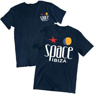 Space Ibiza Beach Club Logo Mens T shirt Navy Blue Festival Top Beefa Night Club