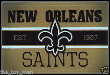 NEW ORLEANS SAINTS FOOTBALL NFL LICENSED VINTAGE TEAM LOGO INDOOR DECAL STICKER