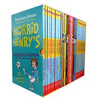Horrid Henry 30 books set Collection By Francesca Simon Inc Mischievous Mayhem