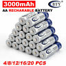 4-20pcs BTY AA Recharge Batteries 3000mAh  NI-MH 1.2V