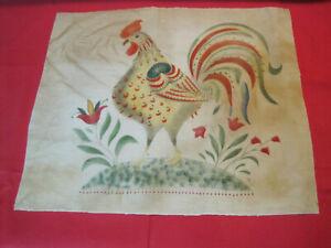Folk Art Theorem painting of Rooster, unframed