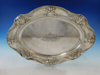 "Martele by Gorham .9584 Sterling Silver Large Meat Tray Platter 17 1/2"" (#0924)"
