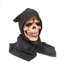 Spaventoso Con Cappuccio #SKULL Maschera Halloween Costume
