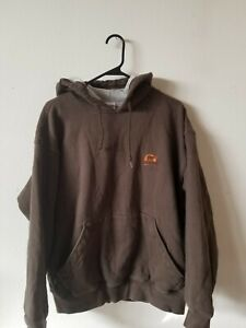 SOREL HEAVY HOODED SWEAT SHIRT. MENS SIZE L. OLIVE GREEN COLOR.
