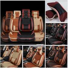 5-Seats Car SUV Full Surrounded Seat Cover Front+Rear Waterproof Set  PU Leather