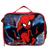 Amazing Spider-man Lunch/Box Bag By Marvel For Boys/Girls/Kids Color Red Blue