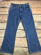 Women's VTG 90's Tommy Hilfiger Flare Wide Leg Blue Jean 13 Spell Out Inseam 31