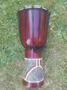 Large Djembe Drum 40cm - Hand Painted