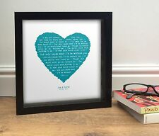 More details for personalised lyrics print -  anniversary gift - beach boys god only knows