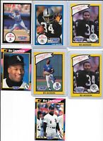 (7) 1990 1992 Kenner Starting Lineup Bo Jackson Football Baseball RC Lot SLU