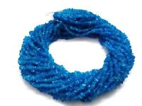 """1 Strand Natural Neon Apatite Chips Smooth 3-5mm Gemstone Loose Beads 34""""inch"""