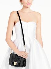 KATE SPADE Primrose Hill Little Kaelin Bling Sequin Patent Bow Bag $318 BLACK