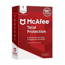 McAfee Total Protection 2019 1 Device 1 Year Key Install New / Renew License