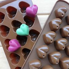 Free ship Heart-shape Silicone Ice Chocolate Cake Jelly Candy Mold Mini Tray Pan