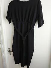 Boohoo Black Maternity Dress 18 Midi length New