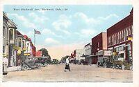 A40/ Blackwell Oklahoma Ok Postcard c1920 West Blackwell Avenue Stores Autos