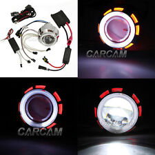 Projector Lens Motorcycle Headlight White Angel Devil eyes CCFL High Low Beam
