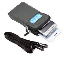 Universal Fashion Nylon Zipper Belt Loop Phone Wallet Case Shoulder Bag Holster