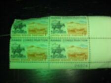 U.S. Postage Stamps Range Conservation Block of 4 Numbered 4 cent New