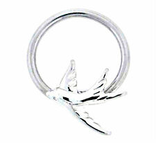 Sparrow Captive Bead Ring Nipple Body Jewelry 14g Tattoo Symbol Stainless Steel