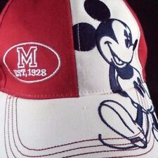 Womens Disney Baseball Cap Mickey Mouse Hat Red White Blue Patriotic