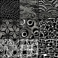 LUNN FABRICS BATIK BLACK & WHITE TEXTURE 9 FAT QUARTERS BUNDLE FAT QUARTER