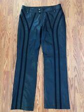 Harley Davidson Women's Polyester Lined Leather Pants Motorcycle Biker black 12