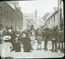 Montreur d'ours dans la rue 1900 Bretagne finistère St Pol de Léon