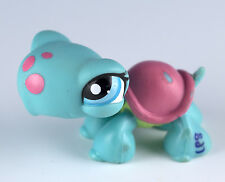 Littlest Pet Shop Turtle #1735 Blue With Blue Eyes Pink Shell