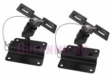 2 PCs Set Heavy Duty Steel Metal Adjustable Speaker Ceiling Wall Mount Brackets
