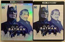 DC BATMAN 1989 4K ULTRA HD BLU RAY 2 DISC SET + SLIPCOVER SLEEVE 30TH ANNIVERSAR